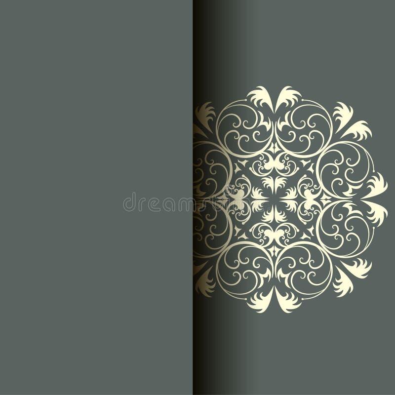 Cartão abstrato, fundo com flores e folhas decorativas Para presentes, decoração e convites para seu projeto sagacidade ilustração royalty free