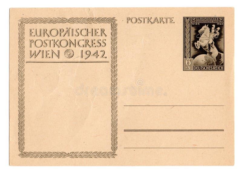 Cartão alemão do Reich imagens de stock