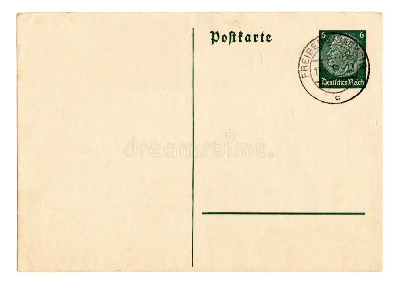 Cartão alemão Hindenburg do Reich fotografia de stock