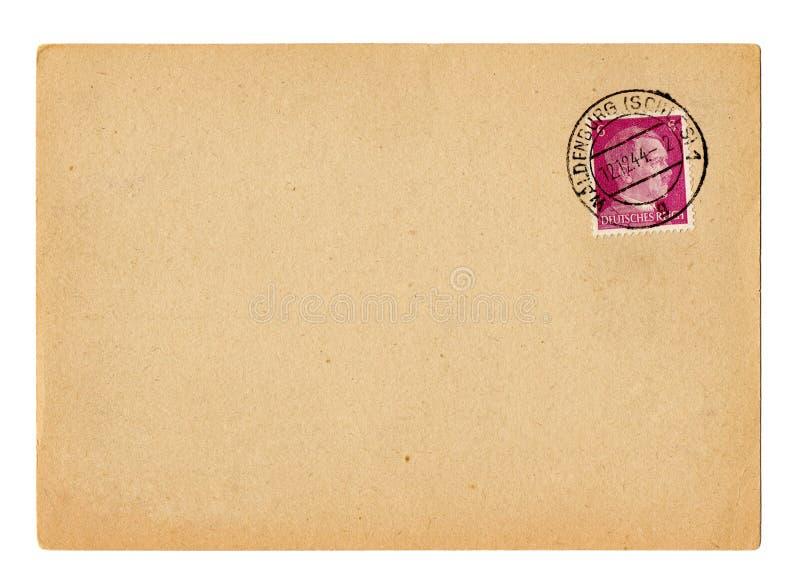 Cartão alemão Hitler do Reich foto de stock