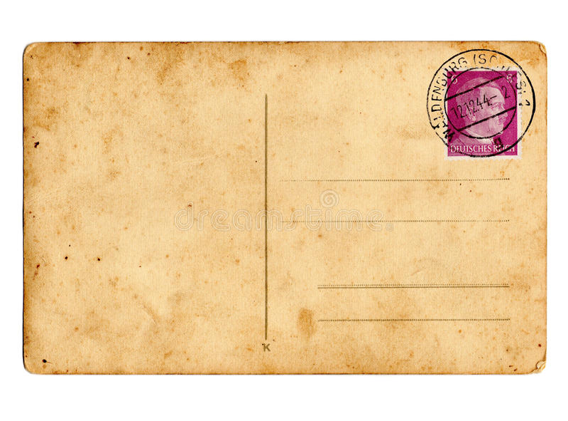Cartão alemão Hitler do Reich imagens de stock