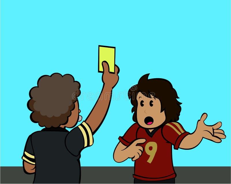 Cartão amarelo! ilustração royalty free