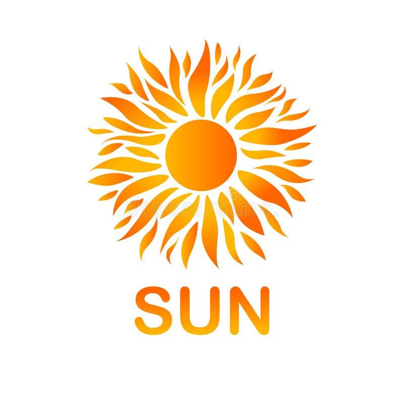 Cartão amarelo do sol do verão Fundo da luz do sol ilustração do vetor