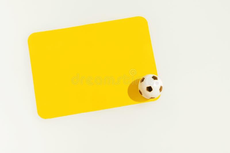Cartão amarelo isolado imagem de stock