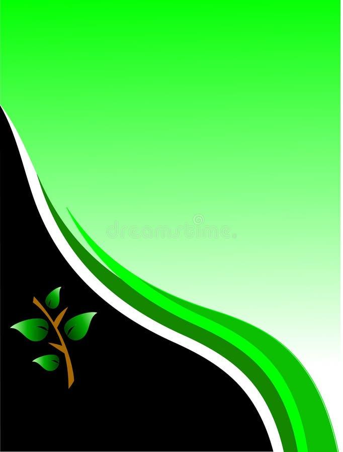 Cartão ambiental verde ilustração stock