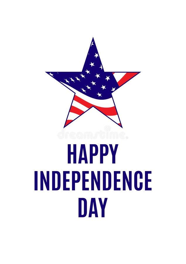Cartão americano do Dia da Independência ilustração royalty free