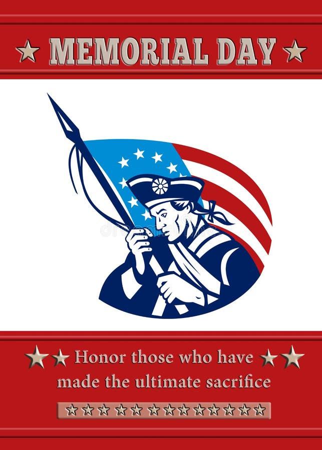 Cartão americano do poster do Memorial Day do patriota ilustração royalty free