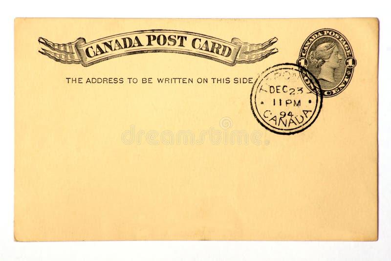 Cartão antigo datado 1894. fotos de stock royalty free