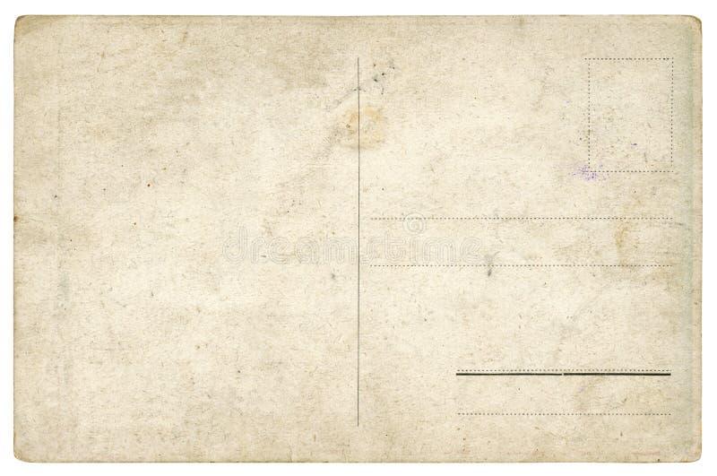 Cartão antigo - isolado foto de stock royalty free