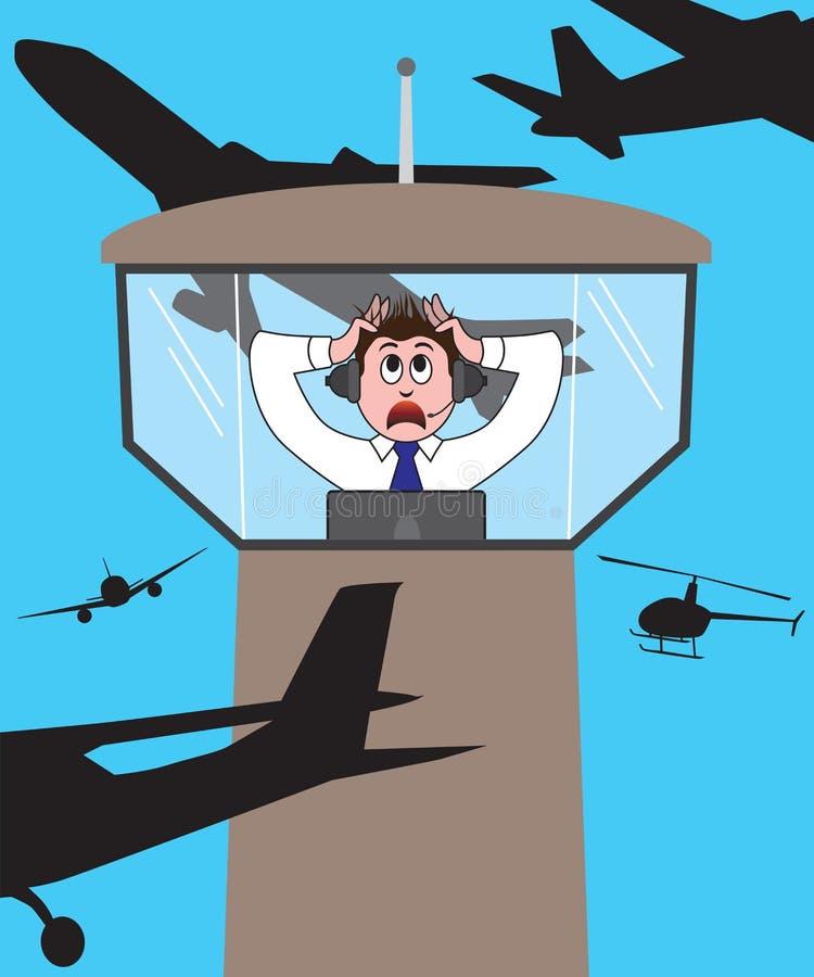 Cartão ao dia do gerente da aviação ilustração do vetor