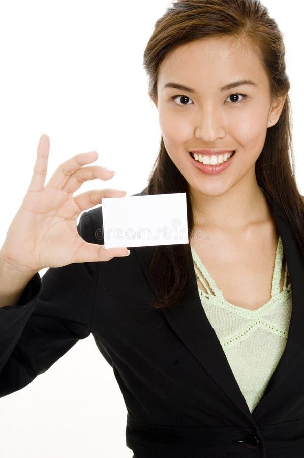 Cartão asiático foto de stock