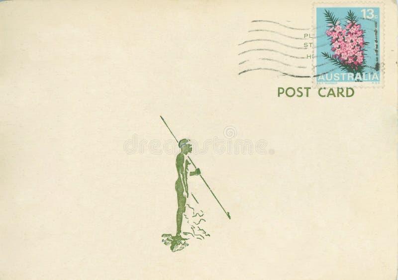 Cartão Austrália do vintage fotos de stock
