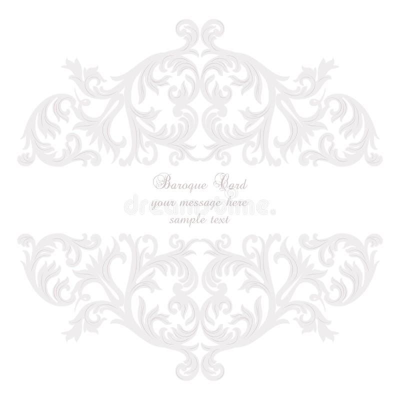 Cartão barroco do ornamento dos rococós do vintage ilustração royalty free