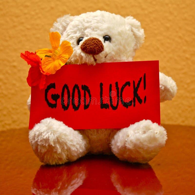 Cartão: Boa sorte! fotografia de stock