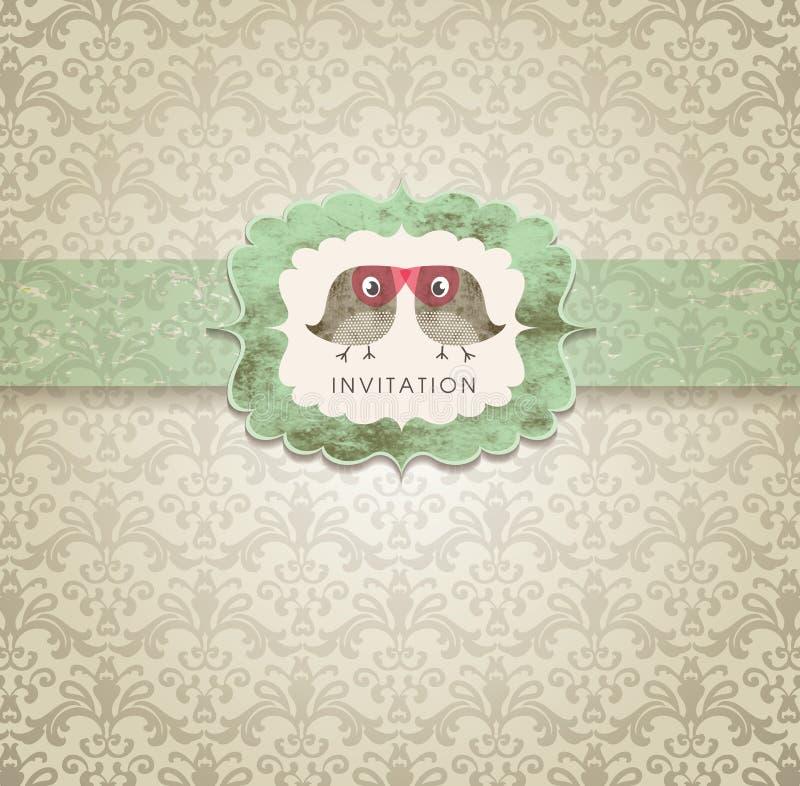 Cartão bonito do convite ilustração royalty free