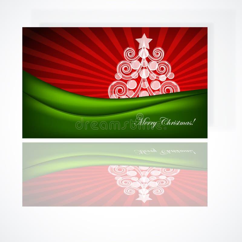 Cartão bonito do presente do Natal ilustração royalty free