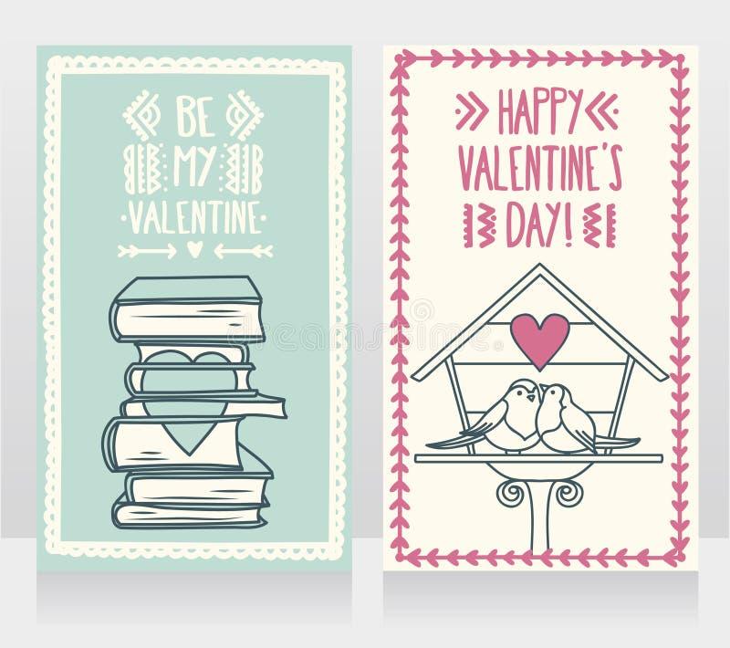 Cartão bonito para o dia de Valentim ilustração do vetor
