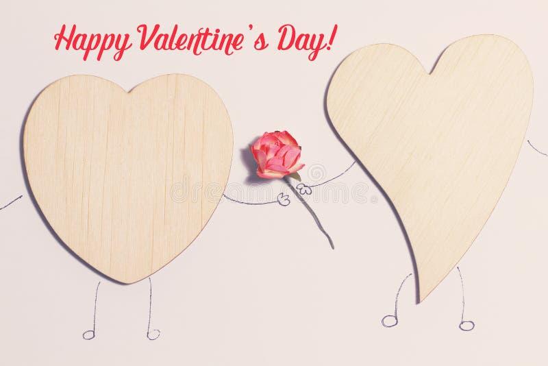 Cartão bonito para o dia do ` s do Valentim fotografia de stock