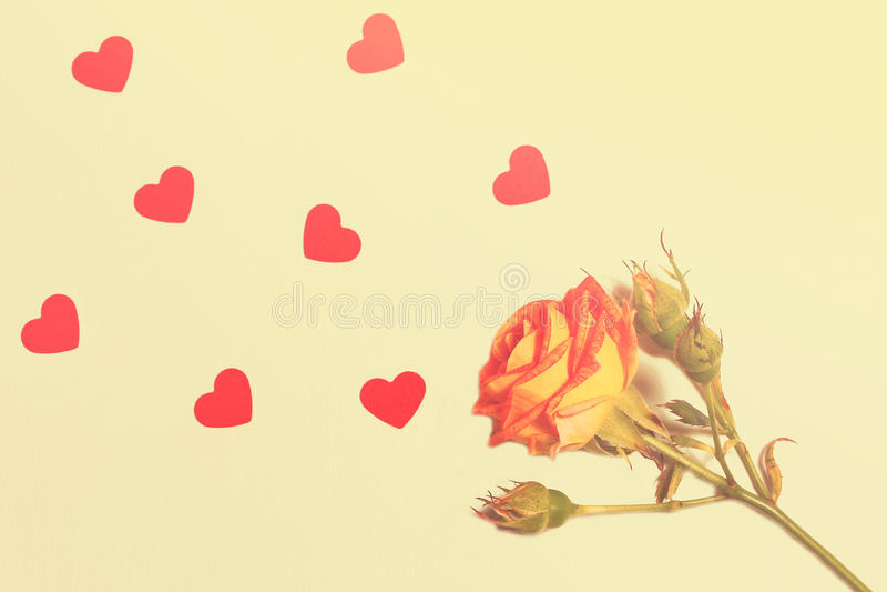 Cartão bonito para o dia do ` s do Valentim fotografia de stock royalty free