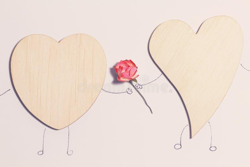 Cartão bonito para o dia do ` s do Valentim foto de stock