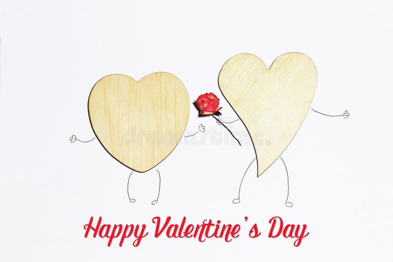 Cartão bonito para o dia do ` s do Valentim fotos de stock royalty free
