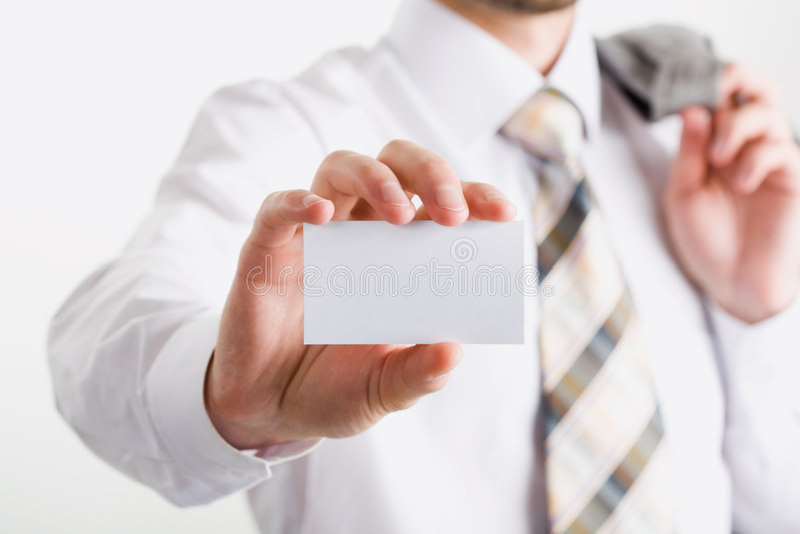 Cartão branco foto de stock royalty free