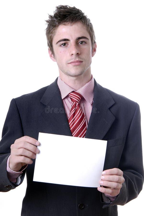Cartão branco vazio foto de stock