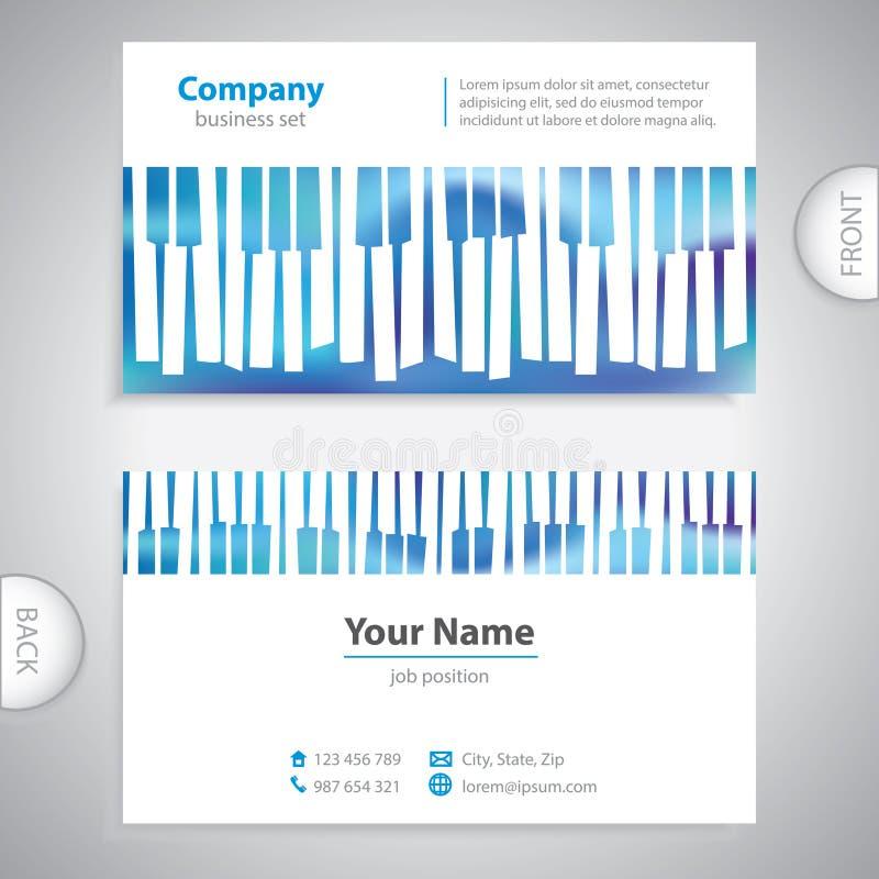 Cartão - chaves musicais abstratas do piano ilustração stock