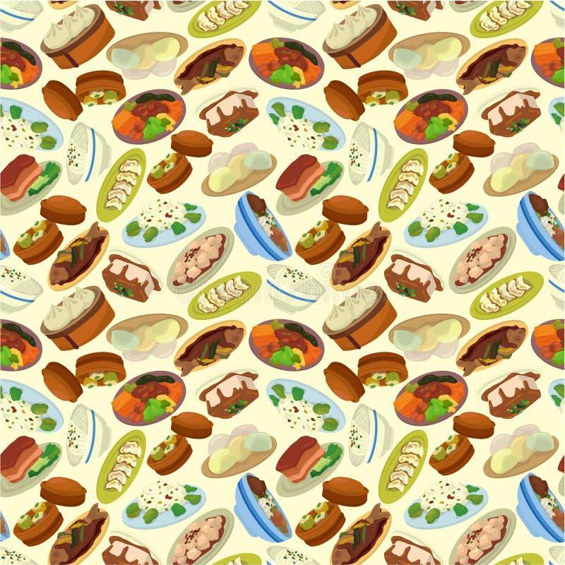 Cartão chinês do alimento ilustração royalty free