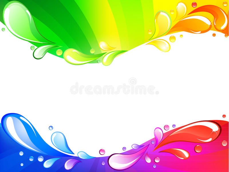 Cartão colorido do arco-íris ilustração stock