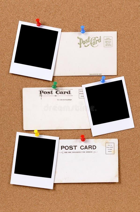 Cartão com as cópias vazias da foto imagem de stock