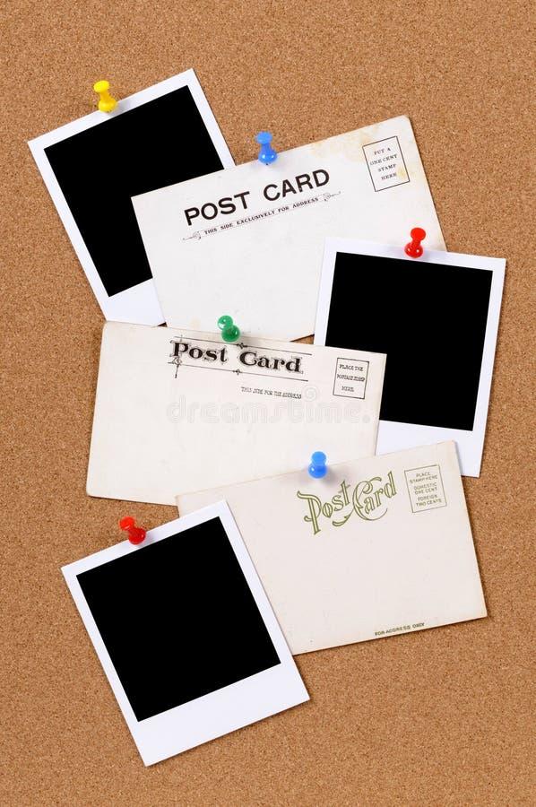 Cartão com as cópias vazias da foto fotos de stock royalty free