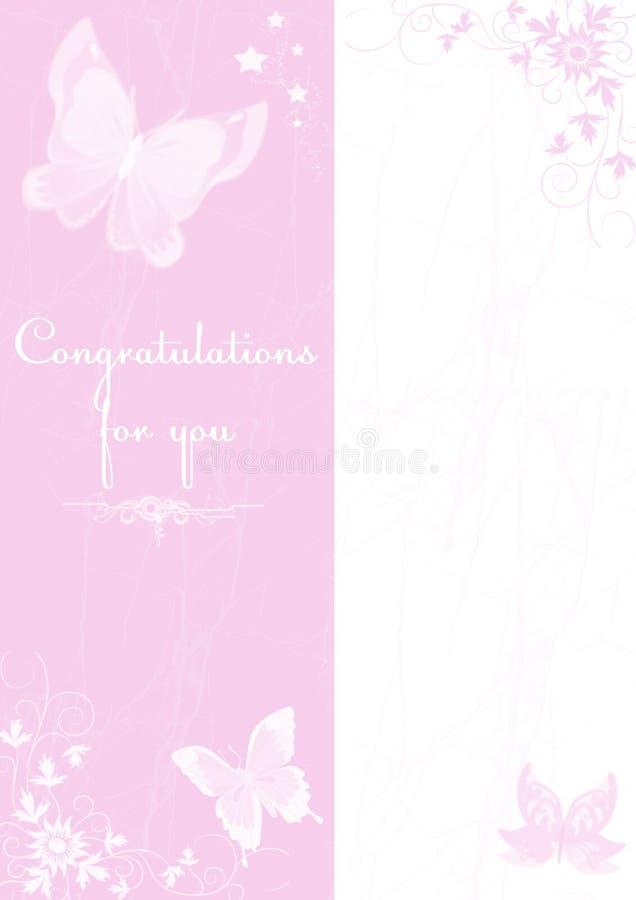 Cartão com borboleta foto de stock royalty free