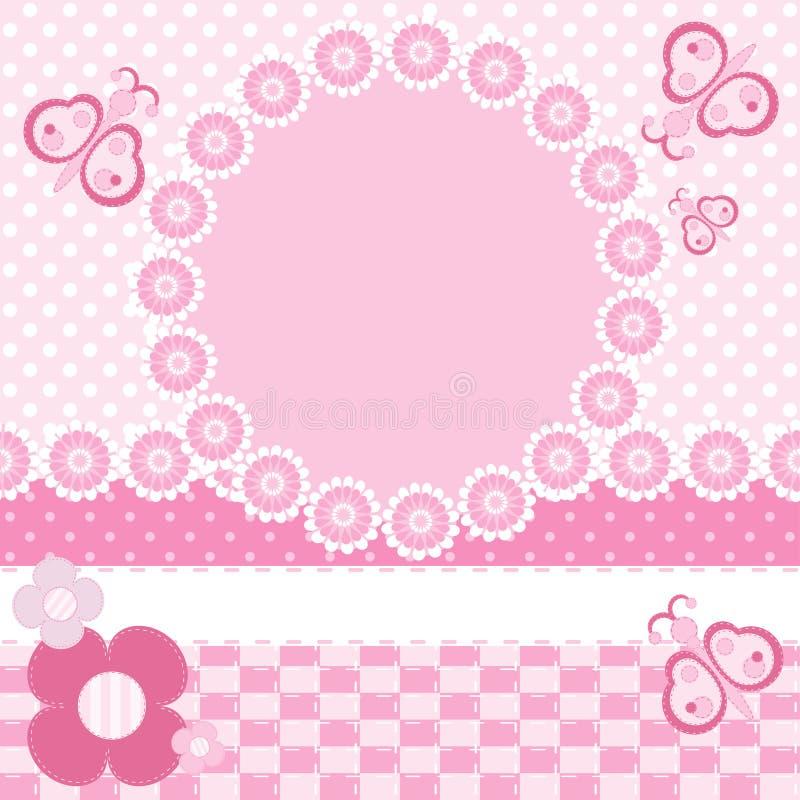 Cartão com borboletas ilustração stock