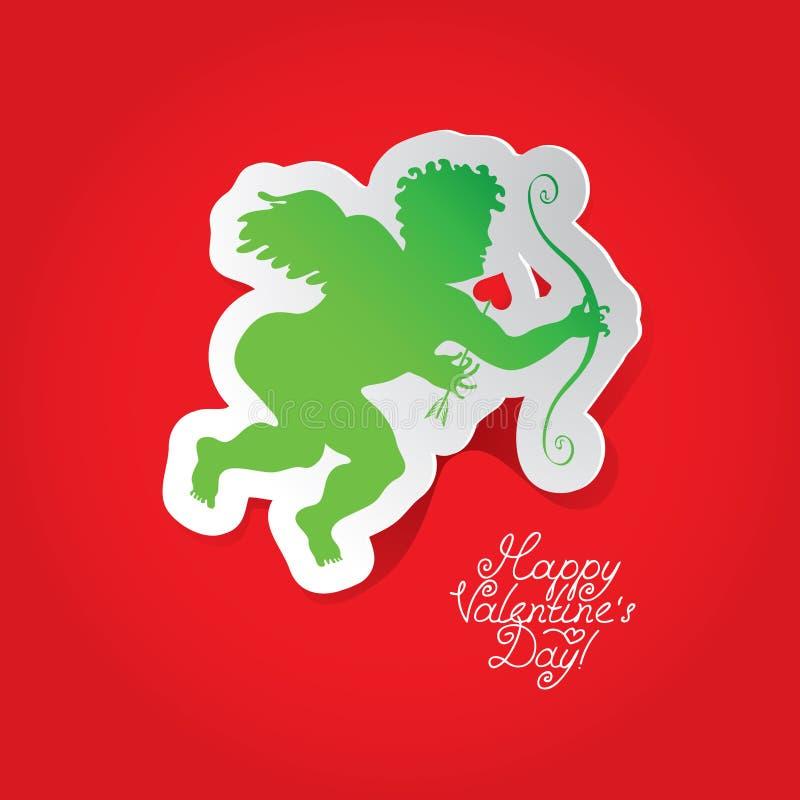 Cartão com Cupid ilustração royalty free