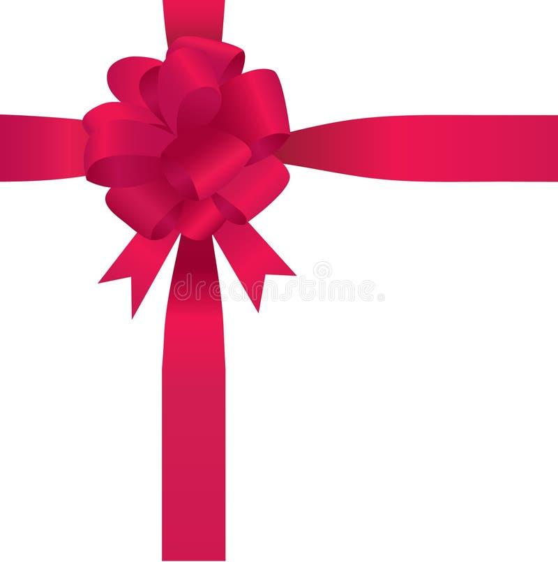 Download Cartão Com Curva Vermelha Do Cetim Ilustração do Vetor - Ilustração de fita, pacote: 16860431