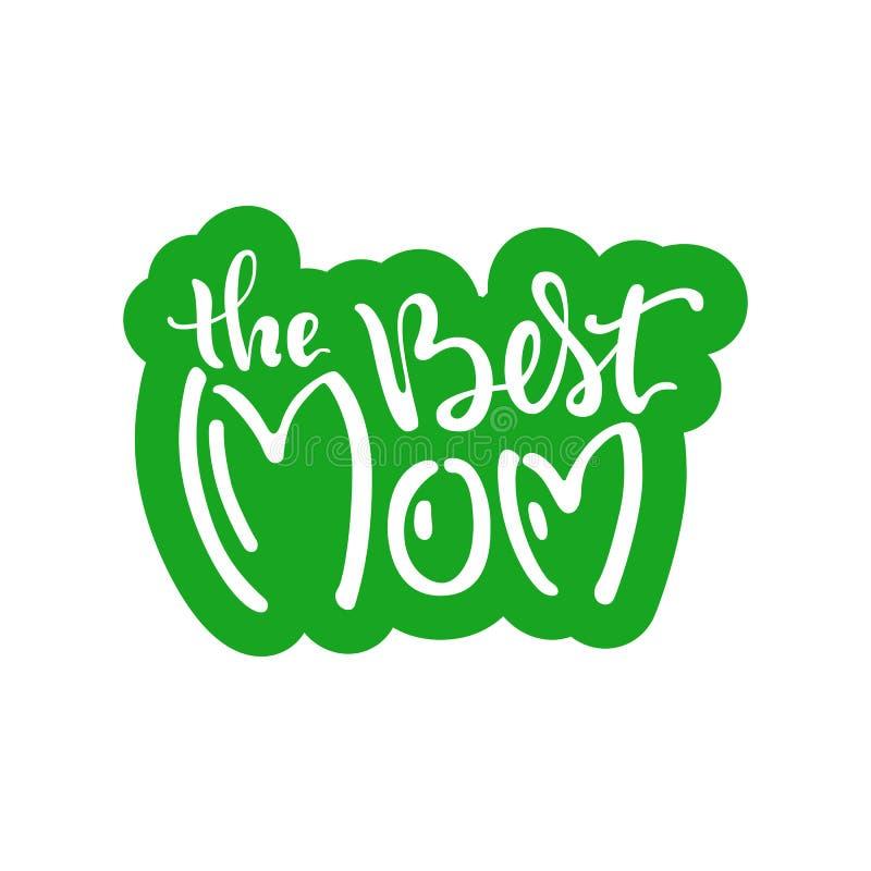 Cartão com dia do ` s da mãe ilustração do vetor