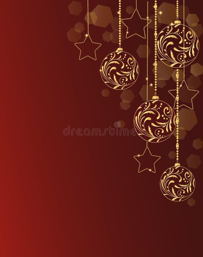 Download Cartão com esferas do ouro ilustração do vetor. Ilustração de fundo - 16859788