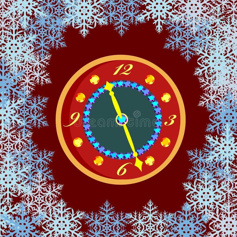 Download Cartão com floco de neve ilustração do vetor. Ilustração de nave - 16860288