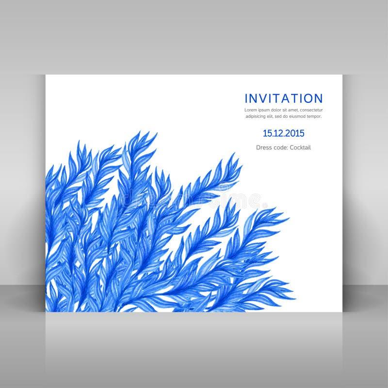 Cartão com flores da aquarela ilustração do vetor