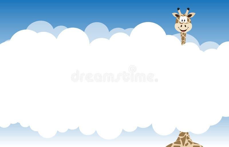 Download Cartão com giraffe ilustração do vetor. Ilustração de safari - 26523328