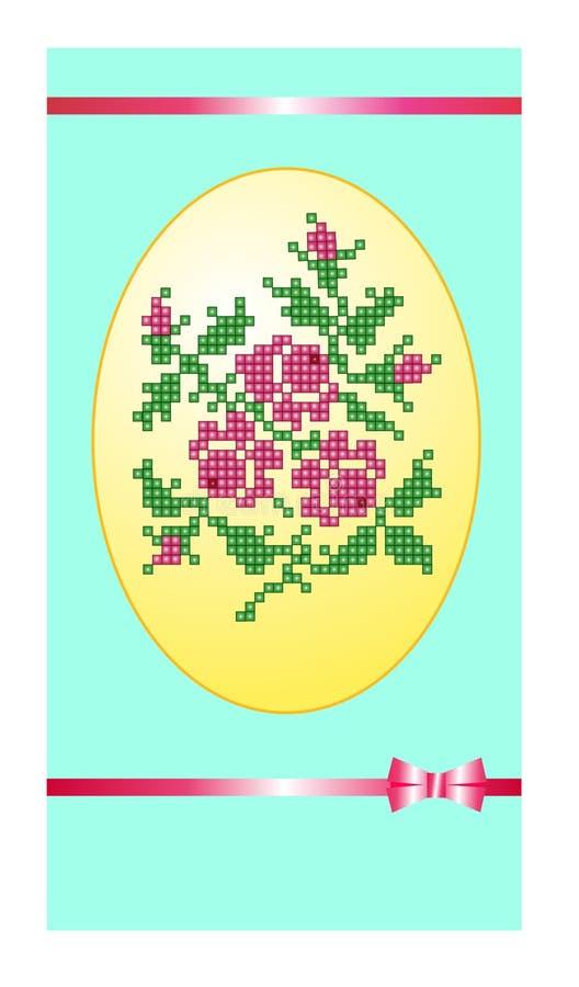 Cartão com grânulos foto de stock royalty free