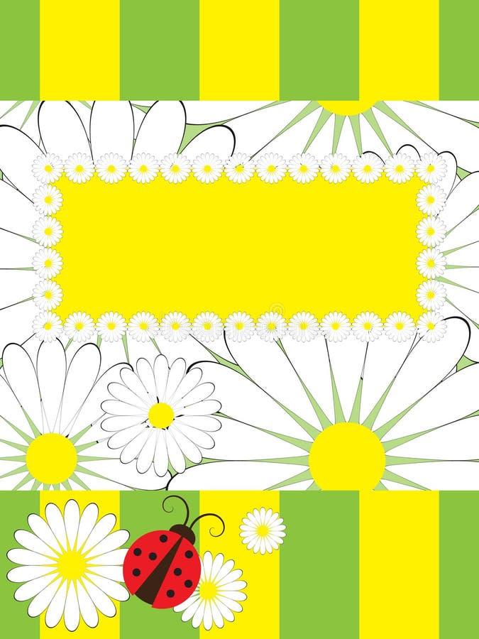 Cartão com joaninha ilustração royalty free
