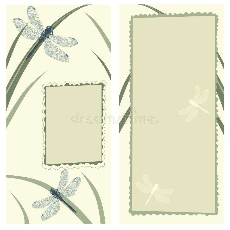 Download Cartão com libélulas ilustração do vetor. Ilustração de nave - 10057148