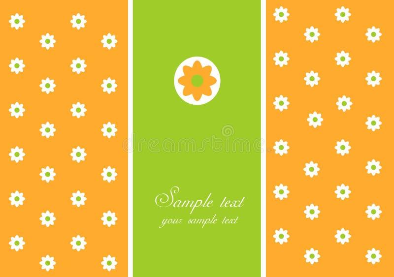 Cartão com margarida branca ilustração royalty free