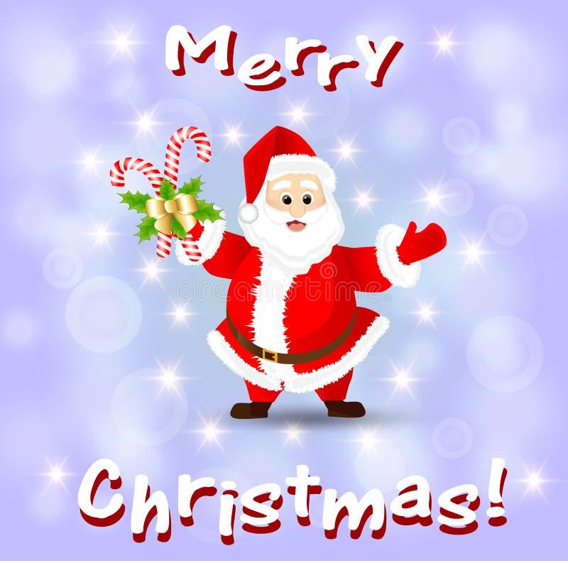 Cartão com Papai Noel ilustração do vetor