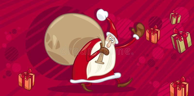 Download Cartão com Papai Noel ilustração do vetor. Ilustração de claus - 80102992