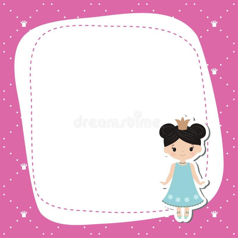 Cartão com princesas bonitas ilustração do vetor