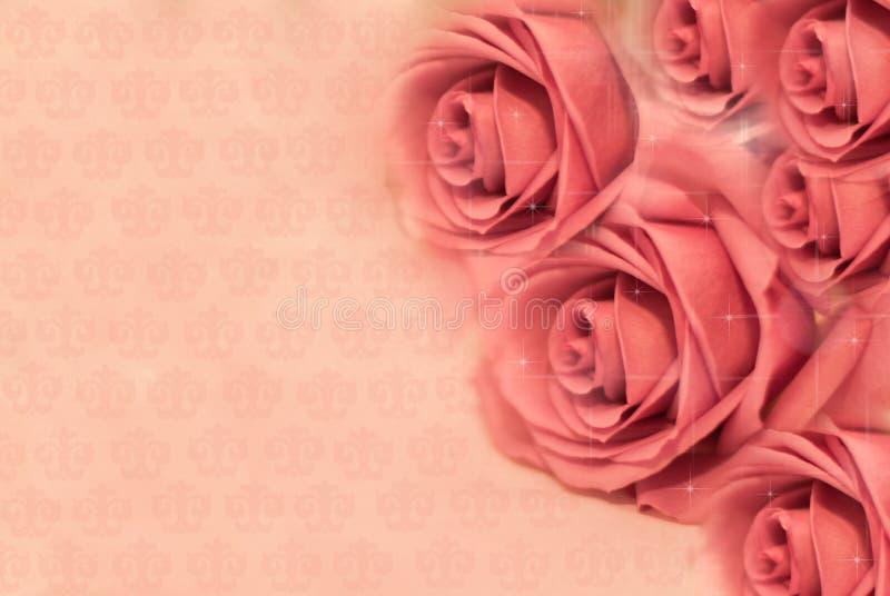 Cartão com rosas. imagens de stock royalty free