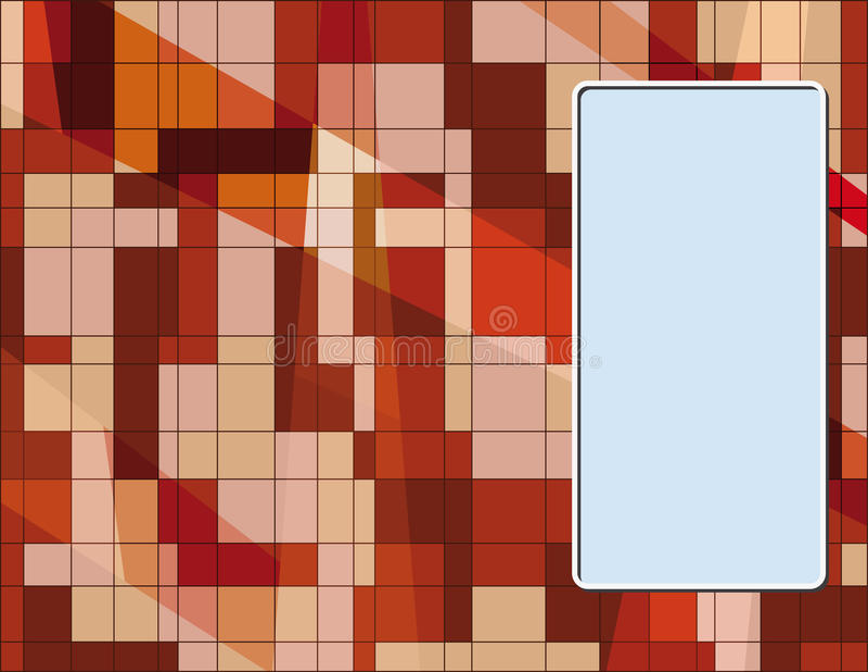 Cartão com texture1 abstrato ilustração royalty free